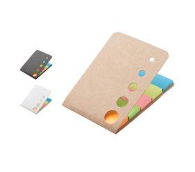 notesik z karteczkami samoprzylepnymi z bezowa okladka