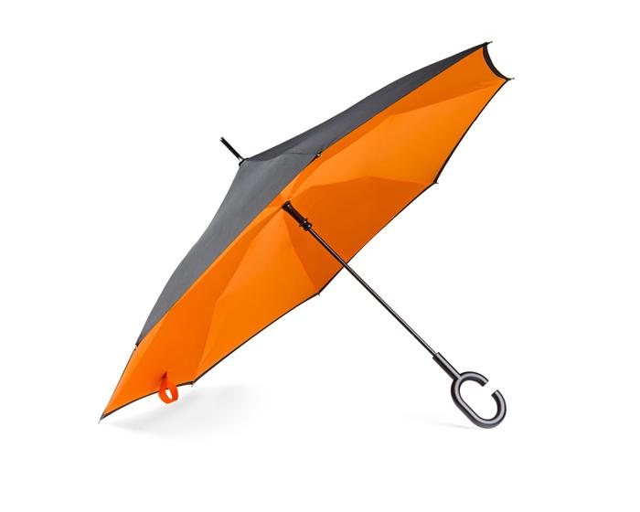 parasol skladany odwrotnie pomaranczowy