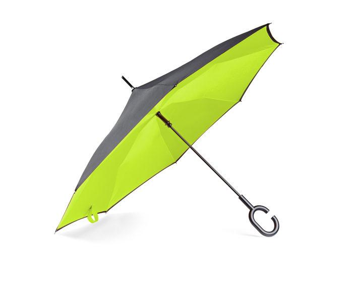 parasol skladany odwrotnie zielony