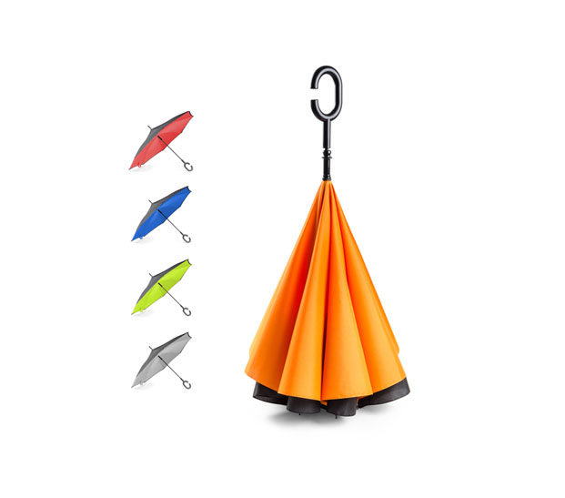 parasol skladany odwrotnie