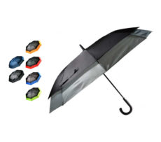 parasol szaro czarny