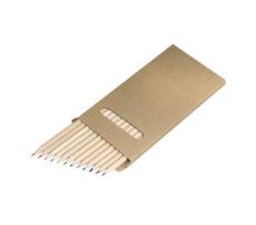 kredki drewniane dla dzieci w kartonowym pudełku