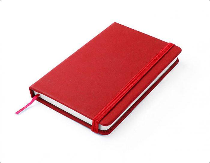 notes a6 kolor czerwony