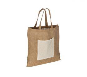 torba ekologiczna z juty z bawelniana kieszenia