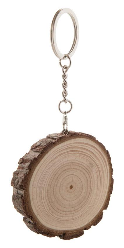 brelok z drewnasosnowego z grawerem reklamowym