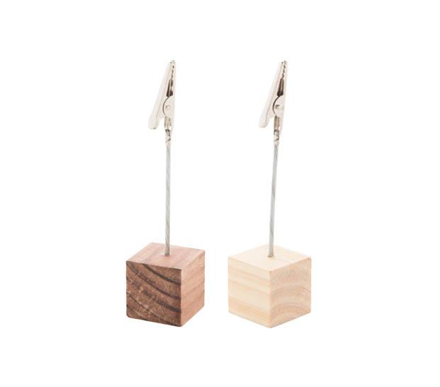 drewniany klip na notatki