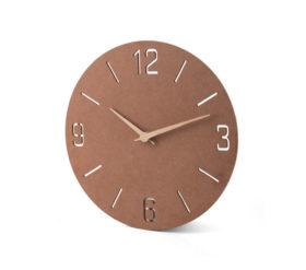 okragly zegar reklamowy na sciane z plyty mdf