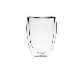 modna szklanka reklamowa z dwusciennego szkla